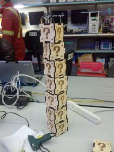 Tower of mario coin boxes
