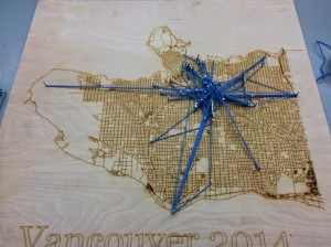 Yarn map of vancouver