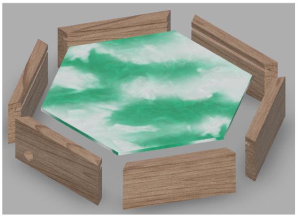 wood frame fusion360 render